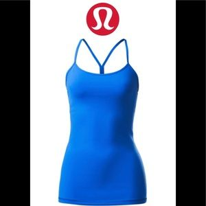 Lululemon blue power Y tank top